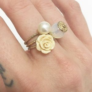 Jewelry - Dainty Three Piece Stackable Ring Set